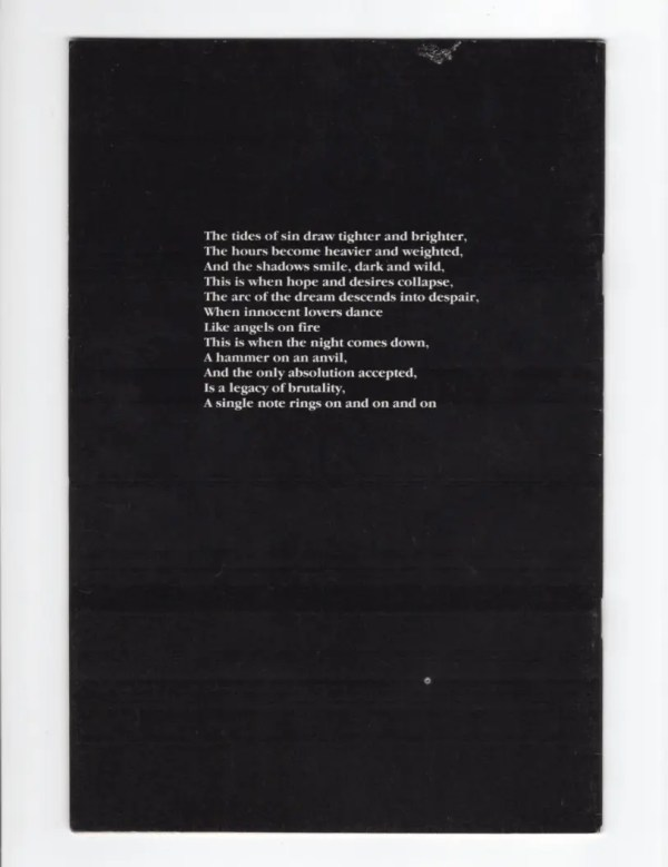 The Crow 4—Back Cover