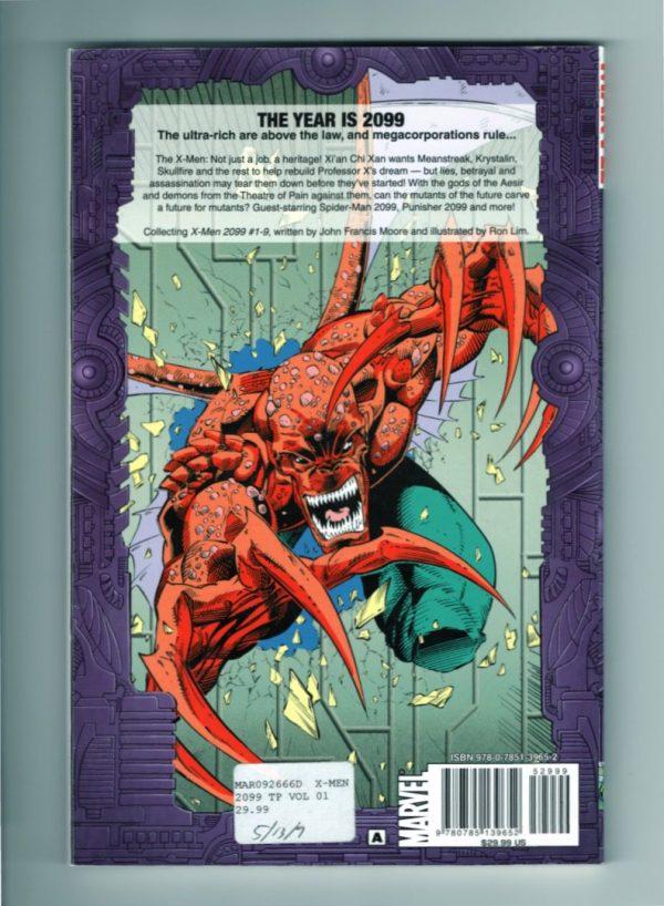 X-Men 2099, Vol. 1—Back Cover