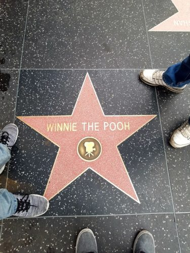 Winnie the Pooh Walk of Fame, Hollywood Los Angeles
