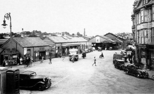 Station Square in 1946. 500x306 - Paignton in 360º