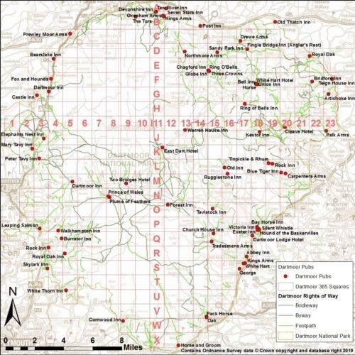 Dartmoor Pubs Map