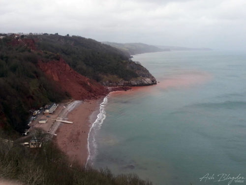 View of Oddicombe Beach from Babbacombe Downs - April 2013