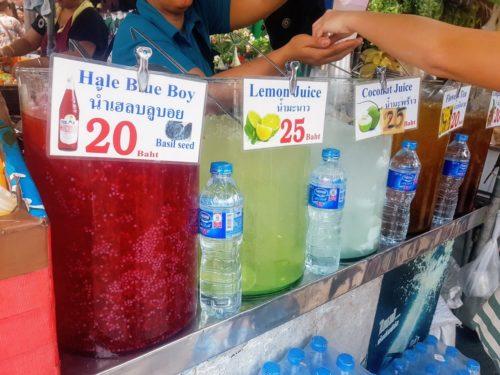 Fruit drinks Chatuchak Market, Bangkok, Thailand