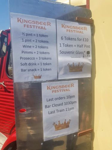 Tokens Prices Kingsbeer Festival, Kingswear