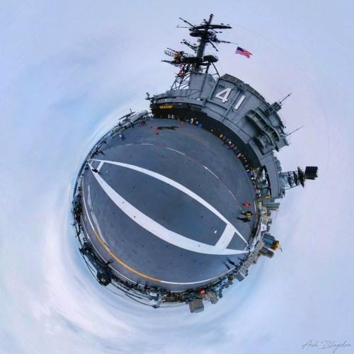 USS Midway, San Diego, USA Tiny Planet