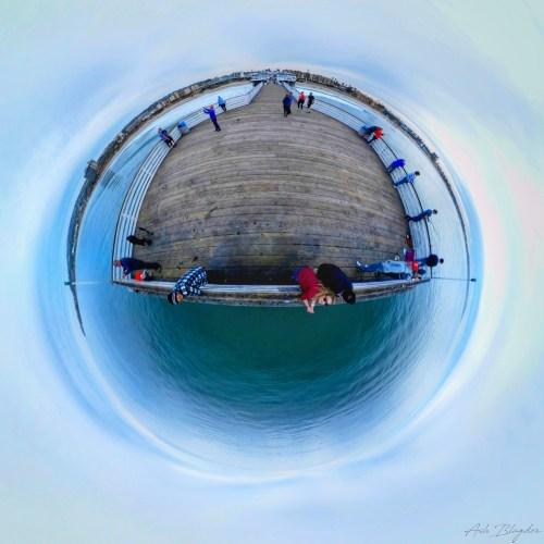 Pacific Beach Pier, San Diego, USA Tiny Planet