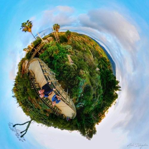 Safari Park, San Diego USA Tiny Planet