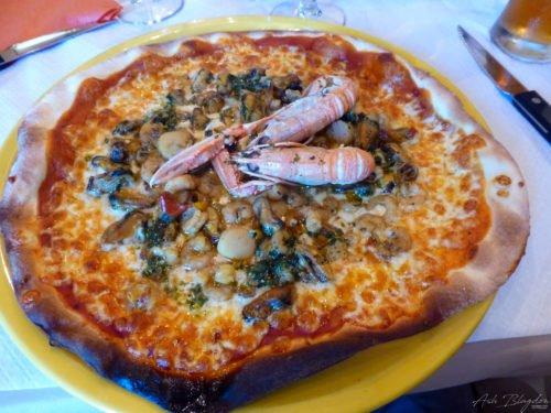 Pizza at Marie Stuart Roscoff, France