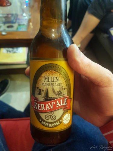 Roscoff Beer in hand