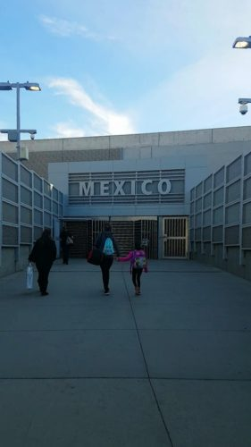 Border Control Entrance Tijuana Mexico