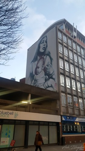 Bristol street art by El Mac - Clothed with the sun