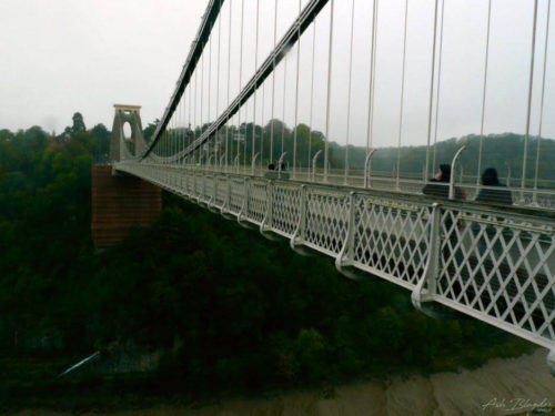Suspension Bridge over a river