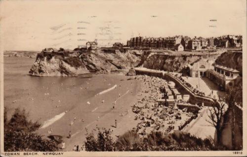 Towan Beach, Newquay, Cornwall, History 1943