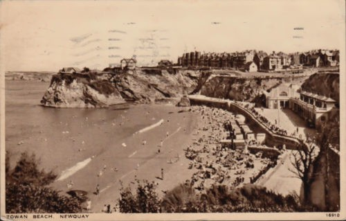 Towan Beach, Newquay, Cornwall, History 1943