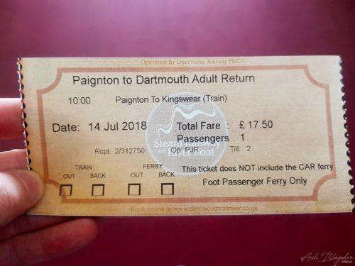 Steam Railway Ticket
