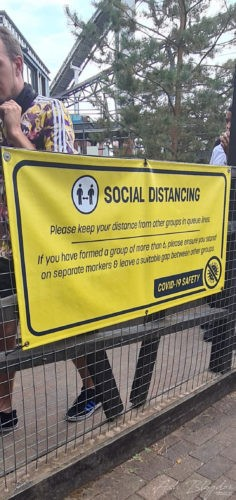 Thorpe Park 2020 Social Distancing