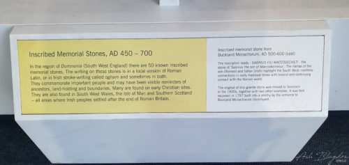 writing on a display case