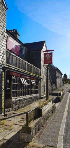 pub building Plume of Feather Inn Dartmoor