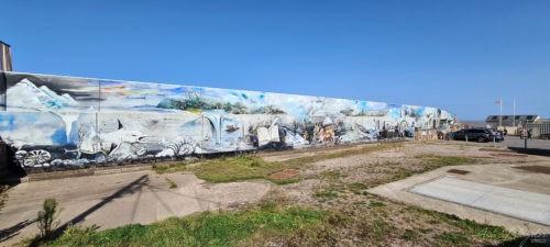 Sea wall mural, Watchet Somerset 2020 2