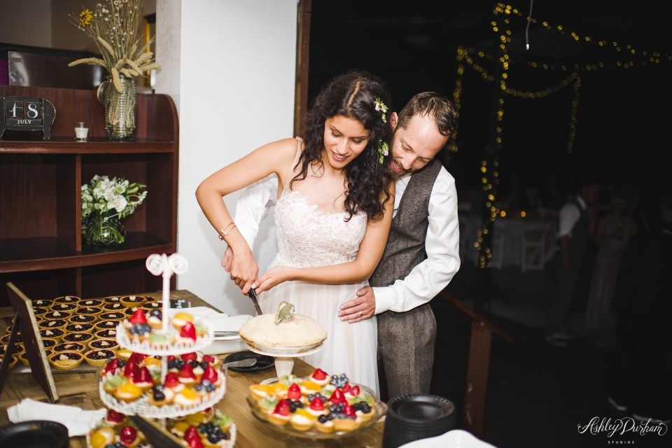 diy pie bar, frost my cake bakery, pie tarts for wedding, non cake dessert ideas for weddings
