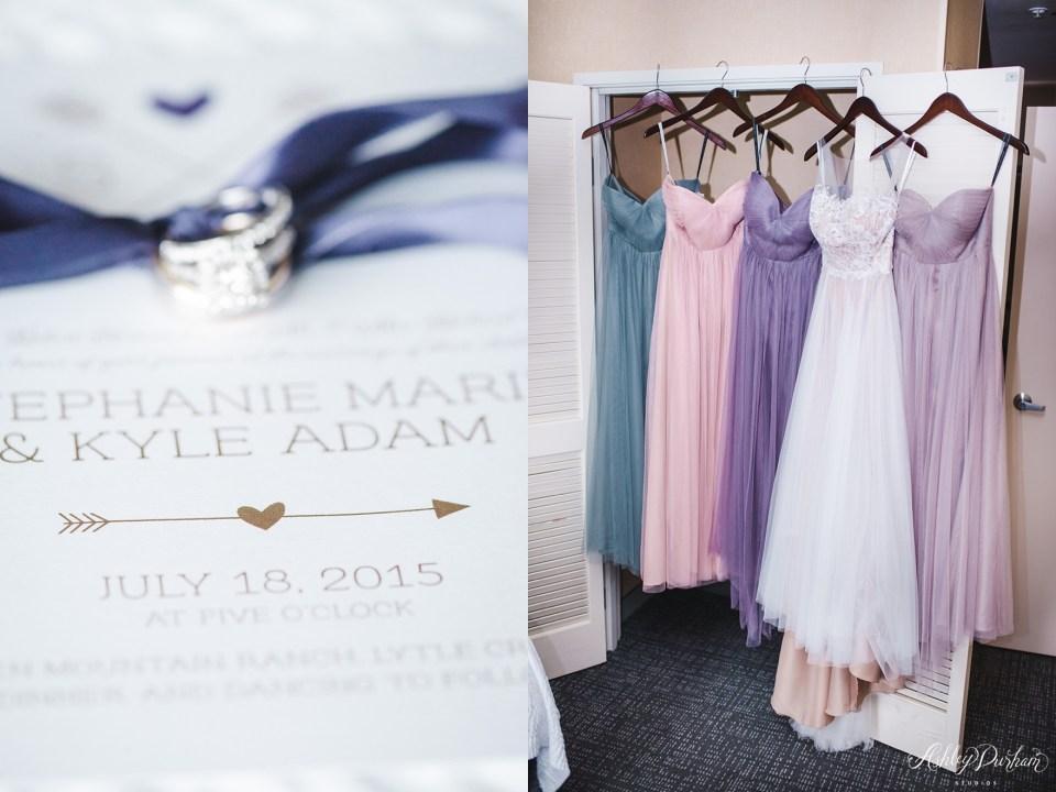 Green Mountain Ranch Wedding, tulle bridesmaid dresses