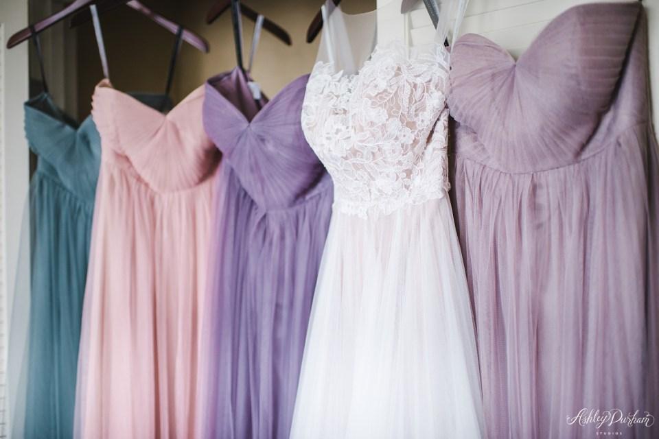Green Mountain Ranch Wedding, tulle bridesmaid dresses, multicolored tulle bridesmaid dresses