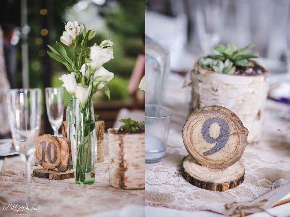 Green Mountain Ranch Wedding, simple wedding table settings