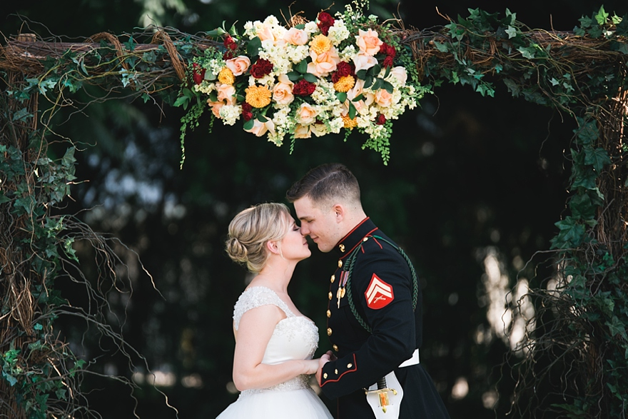griffith house anaheim, outdoor wedding anaheim, usmc wedding, southern california military wedding, studio la flour
