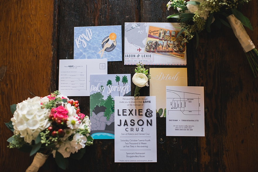 palm springs wedding invitation ideas