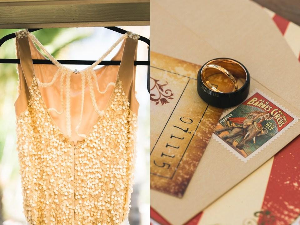 carnival wedding invitation, vintage wedding invitation, circus wedding, gold sequin wedding dress