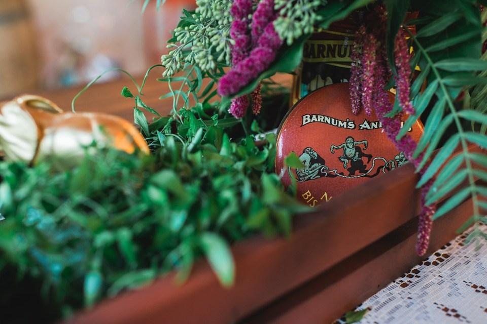 backyard vintage carnival wedding, circus wedding decor, carnival wedding decor, vintage wedding decor, DIY wedding, hot pretzels at wedding, sweet petals florist