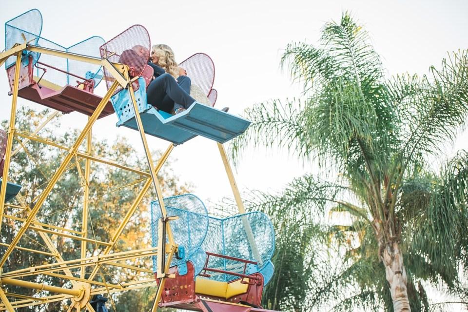 backyard vintage carnival wedding, ferris wheel at a wedding, california circus wedding