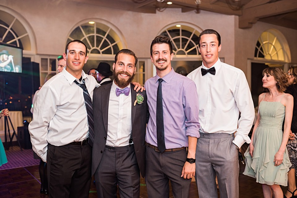 groom and best friends
