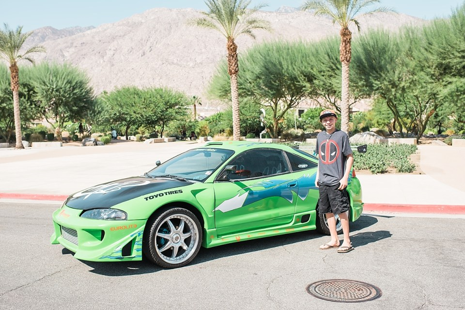 comic con palm springs, brian's fast and furious car