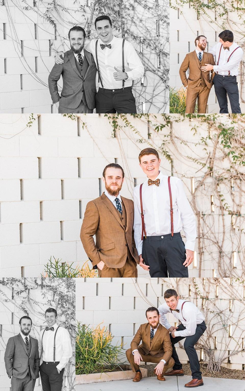 groom with each groomsmen portraits