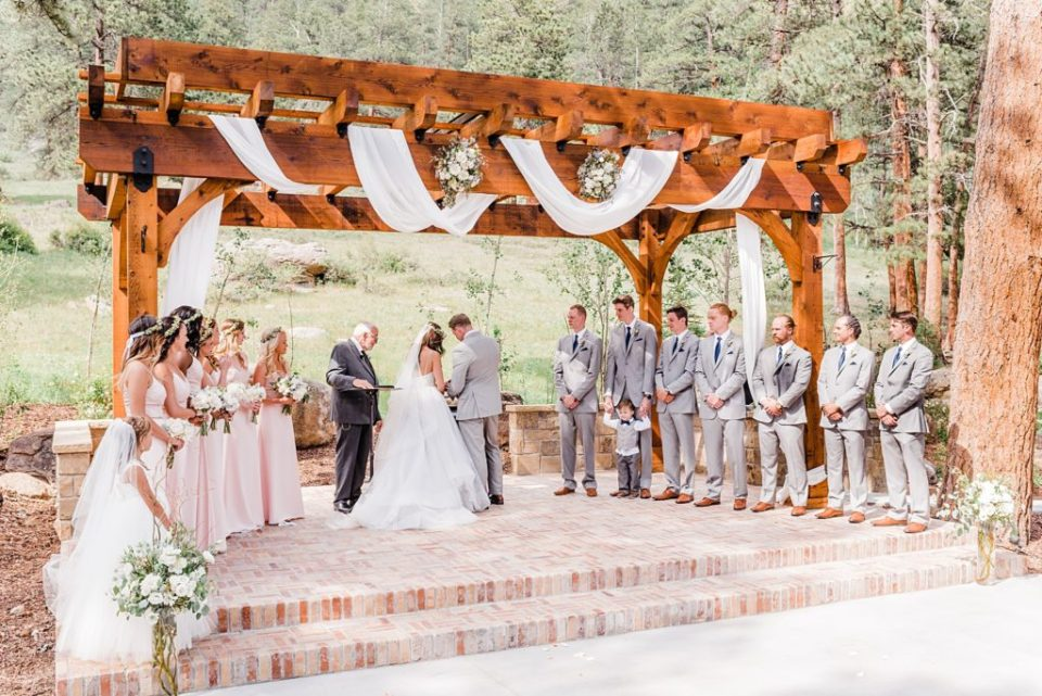 unity cross during wedding ceremony