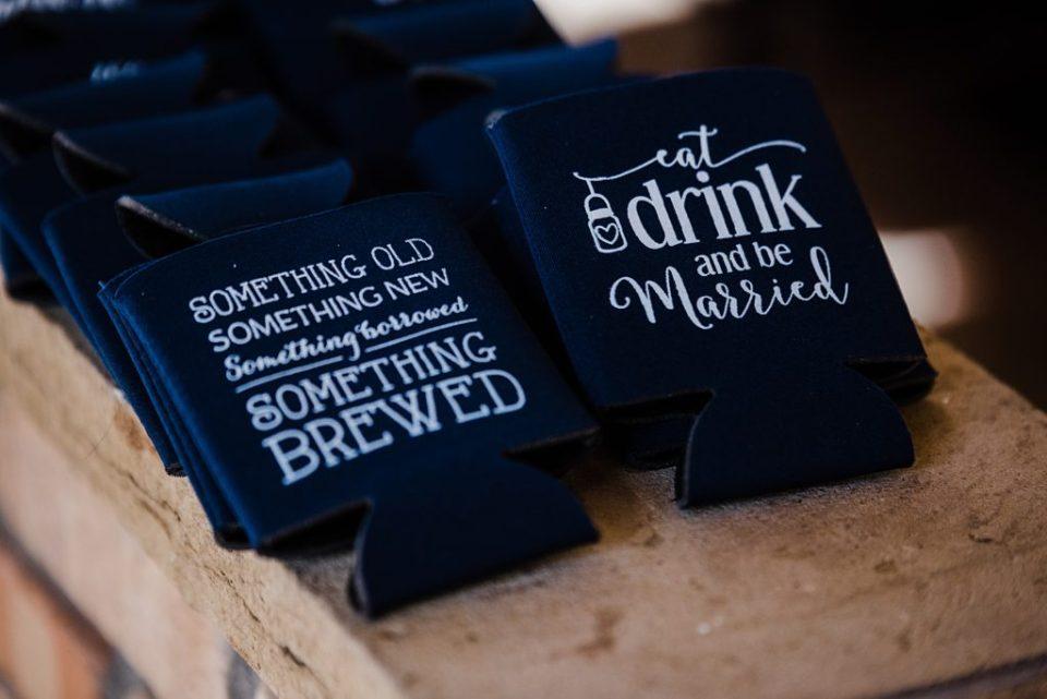 wedding beer cozies