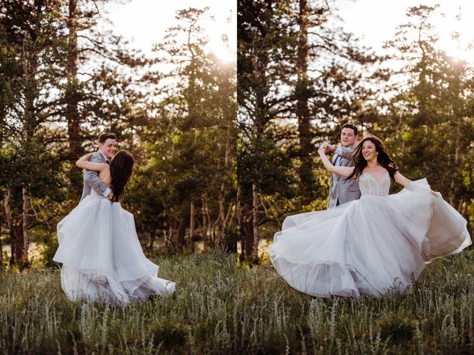 rocky mountain wedding photographer sunset photos