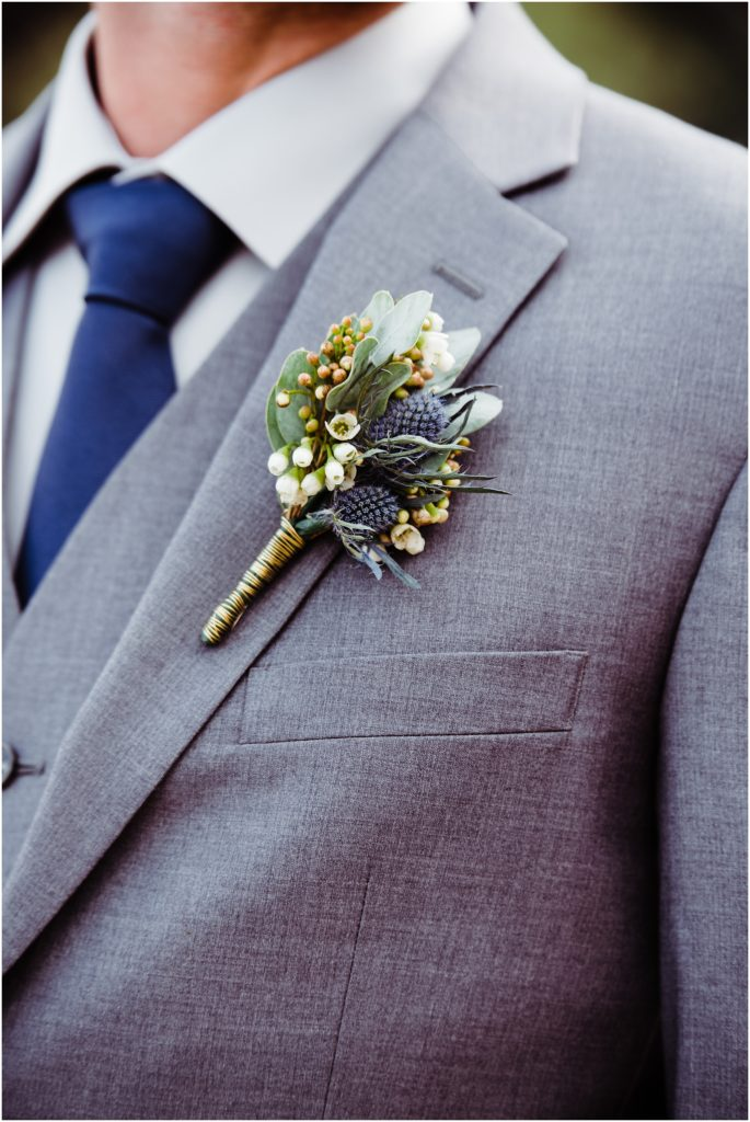colorado mountains inspired boutonniere