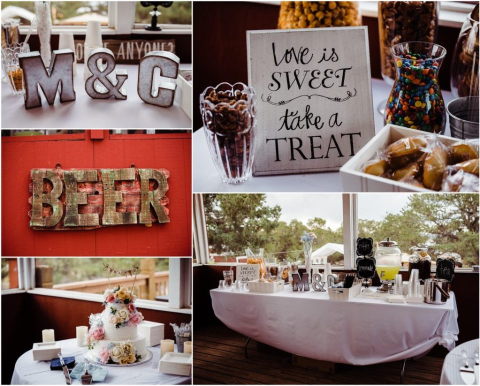 sweets table wedding reception