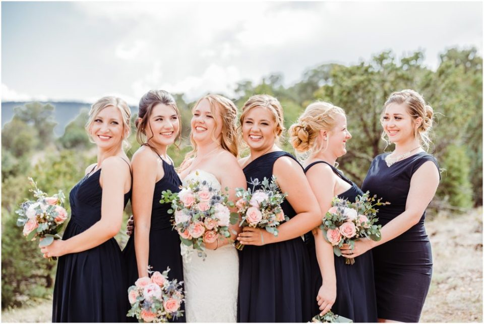 mountain bride with bridal party