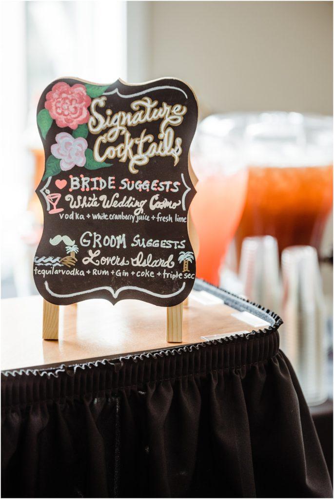 DIY signature cocktail sign