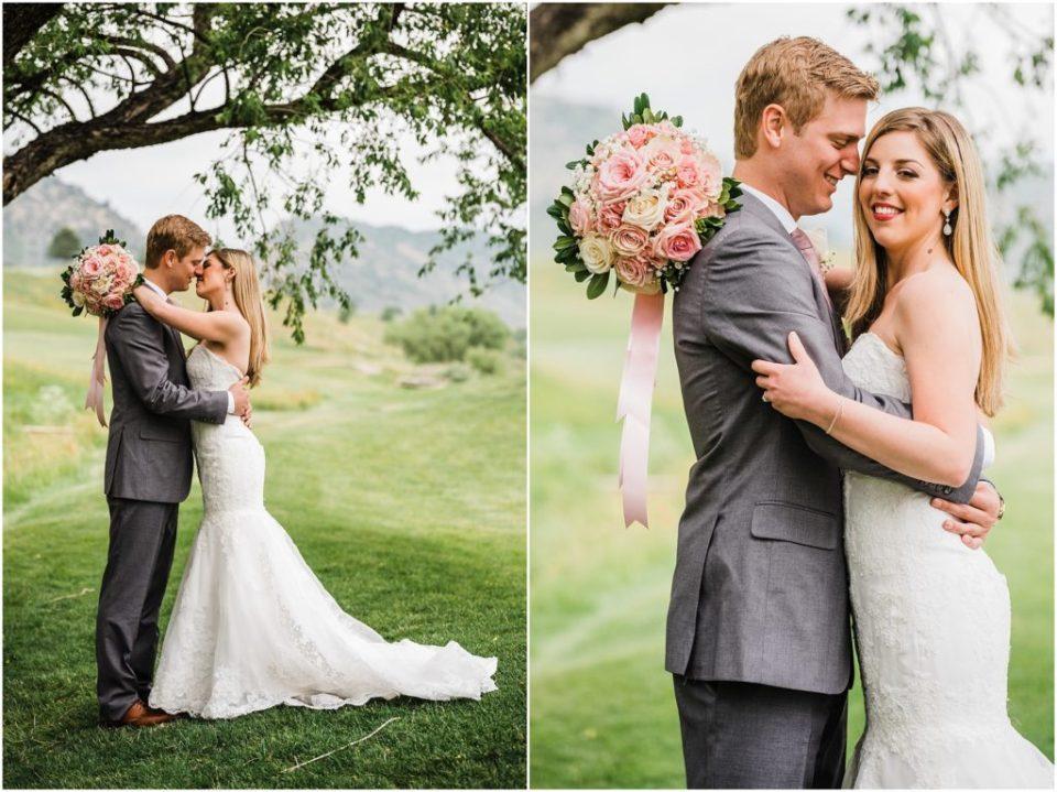 wedding photos on colorado golf course