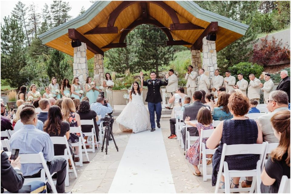 cielo at castle pines wedding ceremony