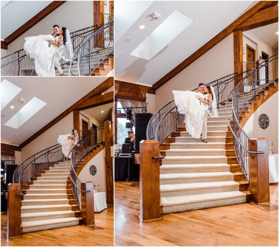 cielo at castle pines wedding reception grand entrance