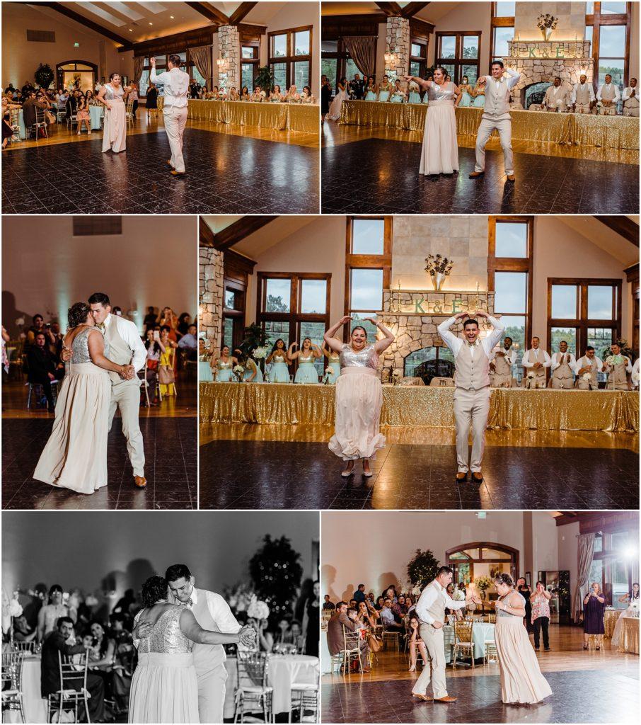 parent dance photos at cielo at castle pines