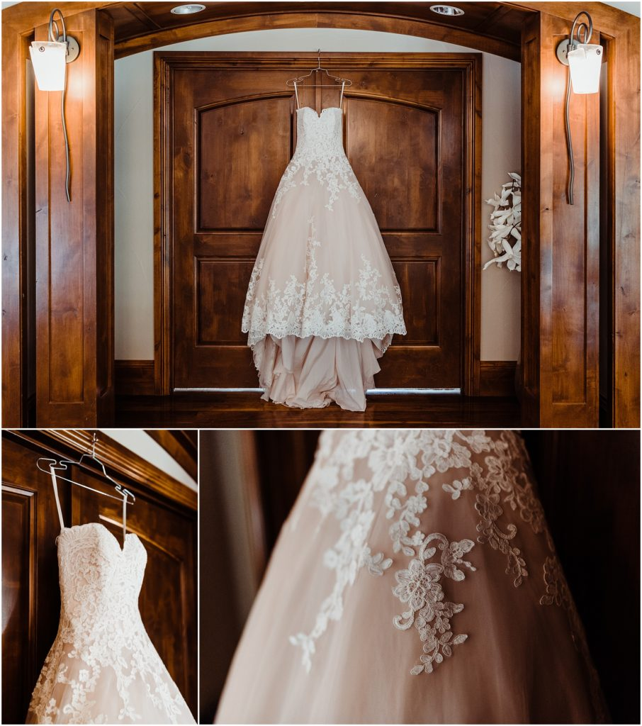wedding dress at cielo at castle pines