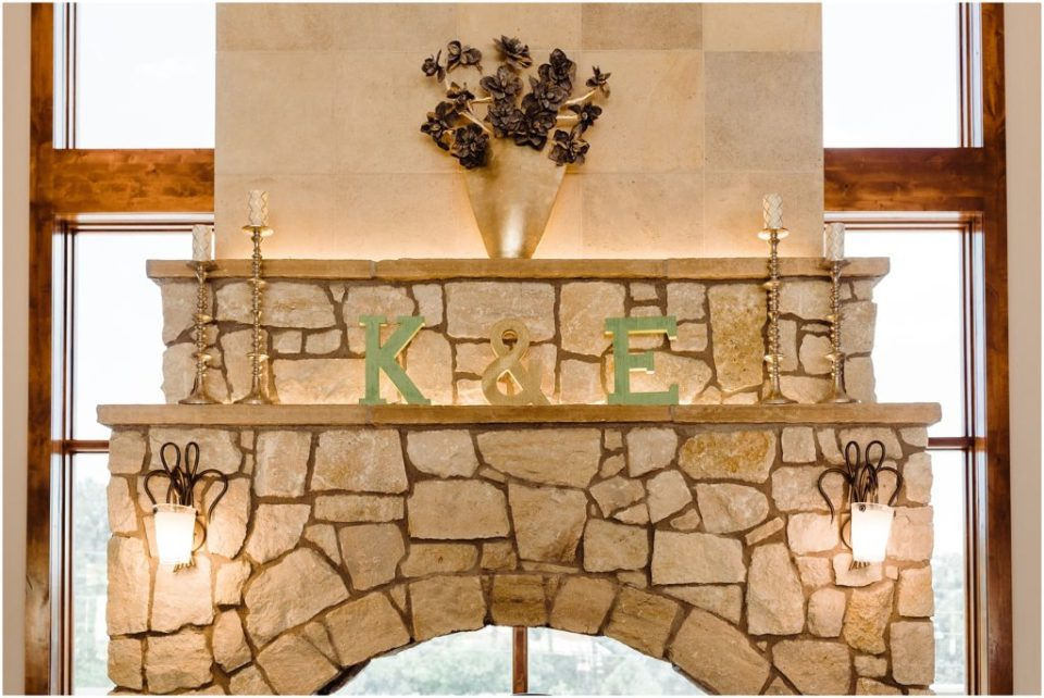 hand painted letters for wedding reception details