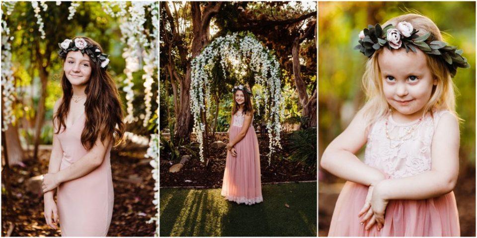 san diego botanic garden wedding flower girls