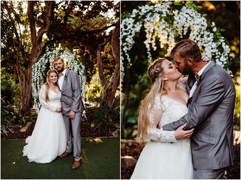 san diego botanic garden wedding portraits at the altar